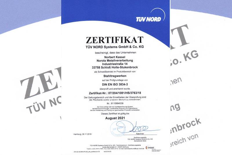 Tüv DIN-EN-ISO-3834-2
